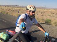 دوچرخه سوار کاشمری زادگاه تا مزار شیخ احمد جامی را رکاب میزند