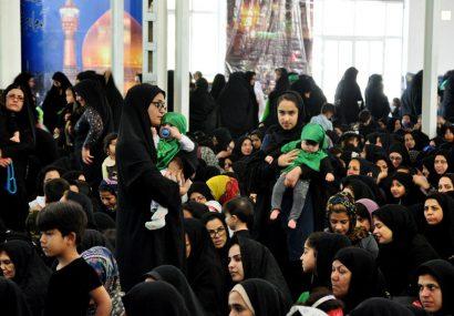 نوای لالایی مادران کاشمری در همایش شیرخوارگان حسینی