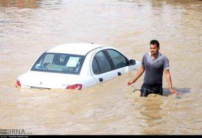 ارتفاع آب از نصف لاستیک خودرو بیشتر باشد ماشین شناور میشود