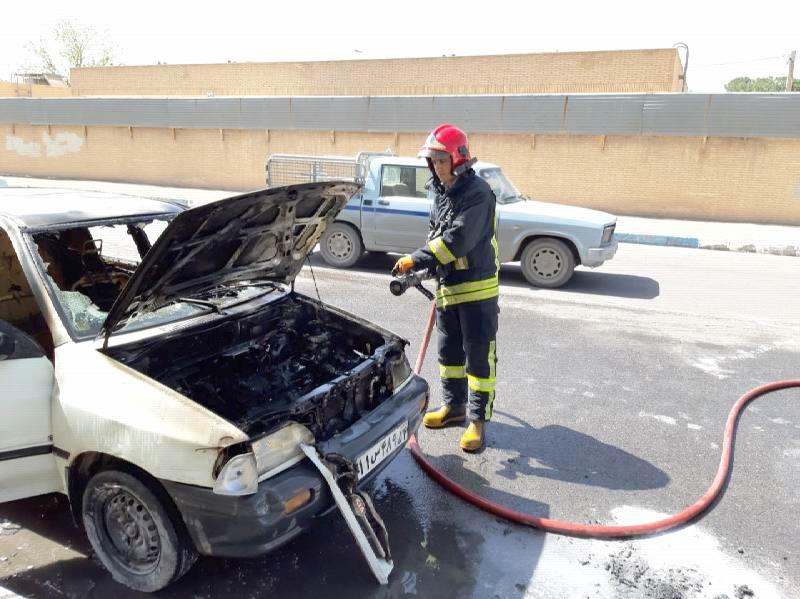 افزایش ۴۰ درصدی حریق خودرو در کاشمر