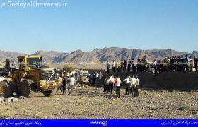 تخریب ساخت و ساز های غیرمجاز در منطقه حسین آباد